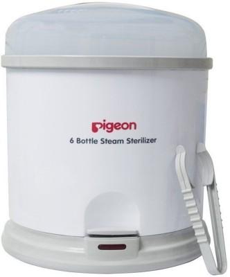 Pigeon 6 Bottle Steam Sterilizer (White) - 6 Slots(White)
