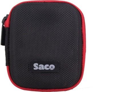 Saco Polyester Zipper Headphone Case(Black)