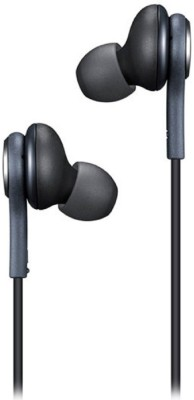 BAGATELLE Earphone Akg Compatible samung j7 Earphone With Mic And Colth Wired Earphone for samsung J7 And All mobiles 3 Wired Headset with Mic (Black, In the Ear) Wired Headset with Mic(Black, In the Ear)