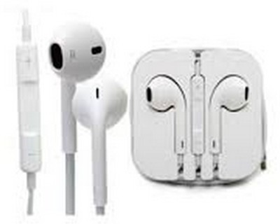 Shop 365 iPhone 4/ 4S/ 5/ 5S/ 6/ 6S EarPods Earphone With Mic and Sound Control Wired Headset with Mic(White, In the Ear)