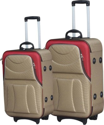 MOFKOF CLASSIC BROWN MAROON Expandable Check in Luggage   24 inch