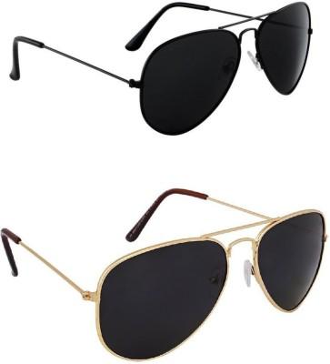 Amour-Propre Aviator Sunglasses(Black)