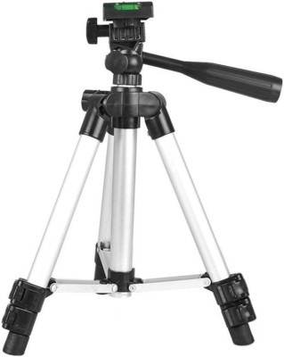 Doodads Beginners camera & Mobile Tripod Kit (Silver, Supports Up to 2000 g) Tripod(Silver, Supports Up to 2000 g) at flipkart