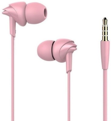 Edfigo EDF-17 Wired Wired Headset with Mic(Pink, In the Ear)