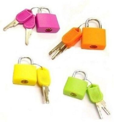 evershinegifts Small padlock with key Padlock(Multicolor)