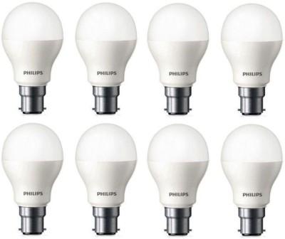 Philips 9 W Standard B22 LED Bulb(White, Pack of 8) at flipkart