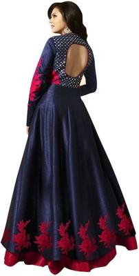 SHIV FASHION Women Embroidered Anarkali Kurta(Blue)