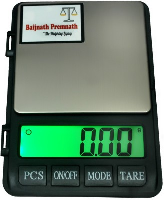Baijnath Premnath Dairy 1kg (1000gram) x 0.01g (10mg) Digital Jewellery Weighing Scale, Gold & Silver ornaments Weight Measuring machine Portable Weighing Scale for homes and professionals Weighing Scale(Black)