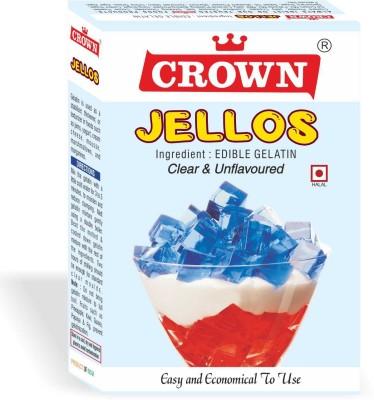 crownfoods Gelatin JELLOS 100 g (50 g X Pack of 2) Gelatin Powder(100 g)