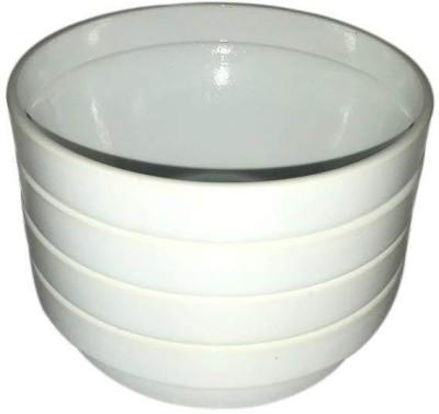 Adaraforever Multipurpose Bowl Set of 4 Pcs Glass Serving Bowl White, Pack of 1 Adaraforever Bowls