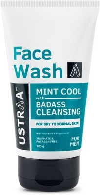 Ustraa By Happily Unmarried - Mint Cool (Dry to Normal Skin) Face Wash(100 g)