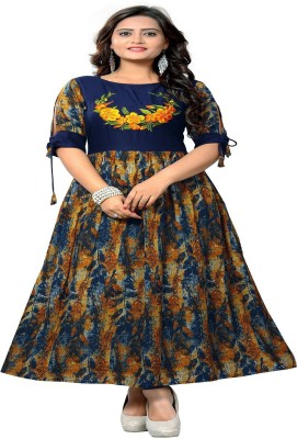 Sukhvilas Fashion Festive & Party Printed Women Kurti(Multicolor)