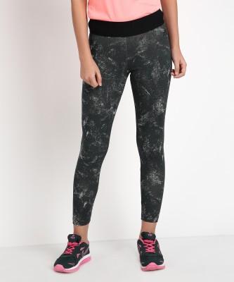 ADIDAS Printed Women Grey Tights at flipkart
