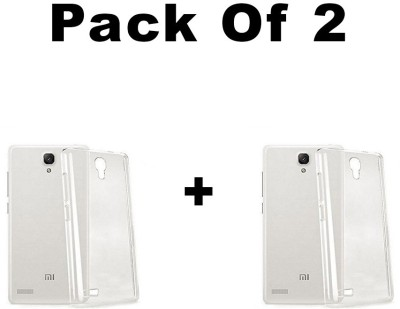 pinaaki Back Cover for Mi Redmi Note Prime Transparent, Silicon