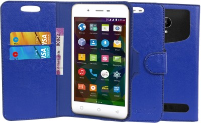 CHAMBU Flip Cover for Micromax Bharat 2 Q402 Blue, Shock Proof