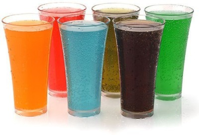 Global Voice Juicy Glass Set(Plastic, 250 ml, Clear, Pack of 6)