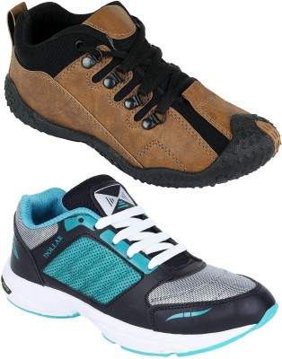 Chevit Combo Pack of 2 Sports Shoes (Running Shoes) Casuals For Men(Multicolor)