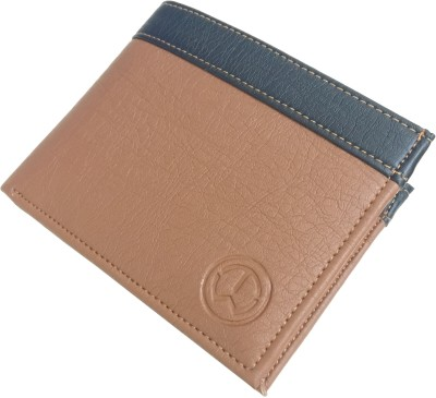 TnW Boys Casual Beige Artificial Leather Wallet 7 Card Slots