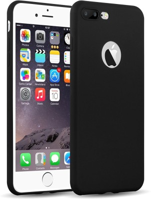 HD Buy Back Cover for Soft Silicone with Anti Dust Plugs Shockproof Slim Apple iPhone 7 Plus, Black(Black, Flexible Case)