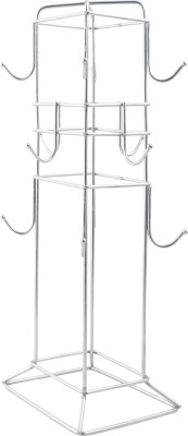 LAMBOSTO Steel Coffee Cup Holder/Tea Cup Stand/Mug Holder Stand (12 Cup) (LMB-003) Stainless Steel Kitchen Rack(Steel)