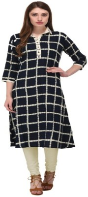 Sukhvilas Fashion Festive & Party Printed Women Kurti(Black)