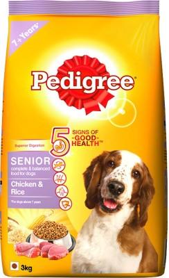 Pedigree Senior Rice, Chicken 3 kg Dry Dog Food