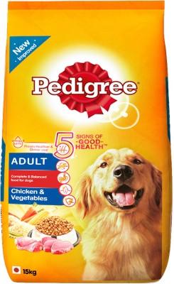 Pedigree Adult Vegetable, Chicken 15 kg Dry Dog Food