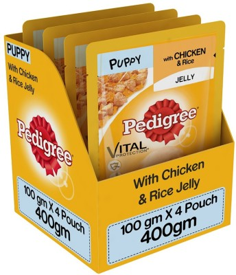 Pedigree Chicken And Rice Puppy Food (100gm, Pack of 4)