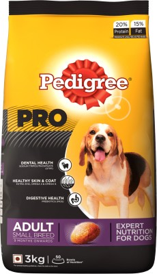 Pedigree PRO Expert Nutrition for Adult Small Breed (9 months onwards) 3 kg Dry Dog Food