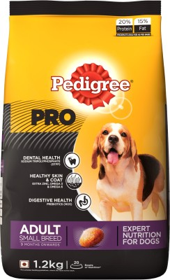 Pedigree PRO Expert Nutrition for Adult Small Breed (9 months onwards) 1.2 kg Dry Dog Food