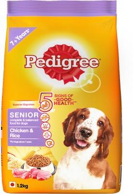 Pedigree Senior Chicken, Rice 1.2 kg Dry Dog Food
