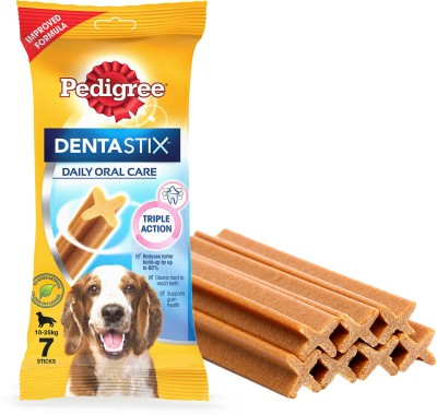 Pedigree Dentastix Oral Care for Adult Small Breed (5-10kg), Weekly Pack (10x7 sticks) Dog Treat(1100 g, Pack of 10)