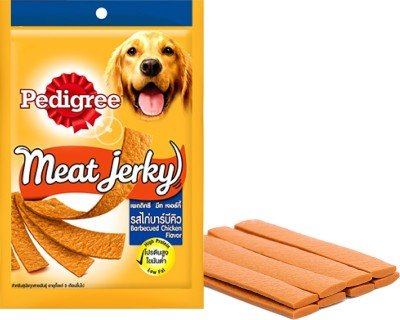 Pedigree Meat Jerky Barbecue, Chicken Dog Treat(320 g, Pack of 4)