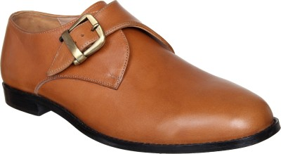 42 Off On Lozano Lozano Tan Leather Single Monk Strap Shoes Monk