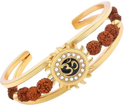 RUDRA DIVINE Wood Beads Yellow Gold Bracelet Set