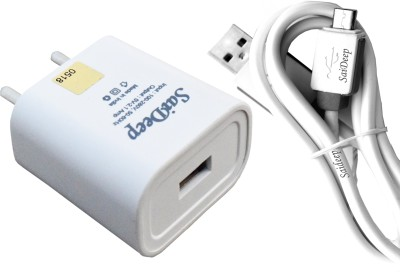 SAIDEEP 2AMP. FAST CHARGER COMPATIBLE FOR Asus Zenfone 4 WITH SYNC/DATA CABLE Mobile Charger(White, Cable Included)