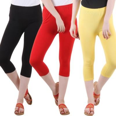 DIAZ Women Red, Black, Yellow Capri DIAZ Women's Capris