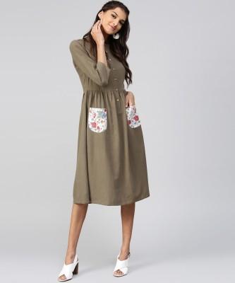 Sassafras Women A-line Grey Dress