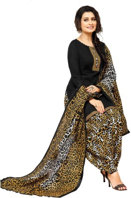 FabTag - Fashion Valley Crepe Printed Salwar Suit Dupatta Material(Un-stitched)