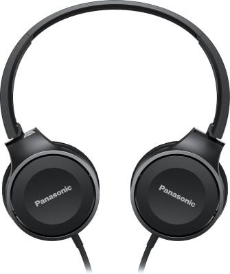 Panasonic RP-HF100MEK Wired Headset with Mic(Black, On the Ear)