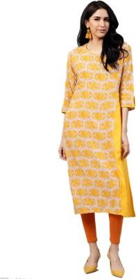 Shree Women Printed, Embellished Straight Kurta Multicolor
