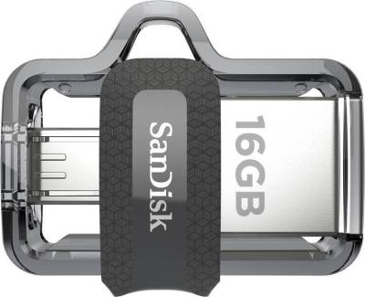 SanDisk Ultra Dual m3.0 16 GB Pen Drive  (Multicolor)