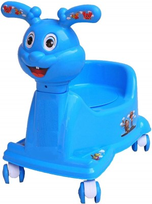 Smilemakers High Quality Baby 3 in 1 Rabbit Potty seat with Walking & Sitting Chair_Blue Potty Seat Potty Seat(Blue)