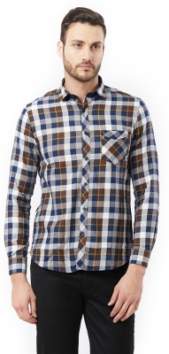 Killer Men Checkered Casual Brown Shirt