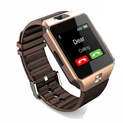 MOBILE LINK M9.GOLD.AM21 phone GOLD Smartwatch(Brown Strap FREE SIZE)