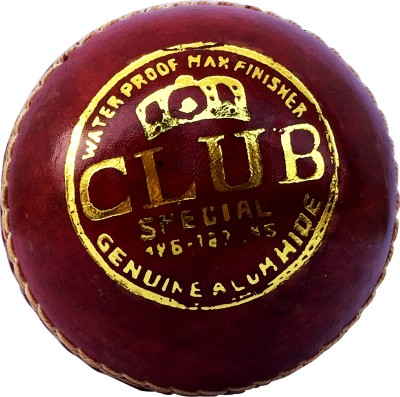 NAS club Cricket Leather Ball Pack of 1, Red