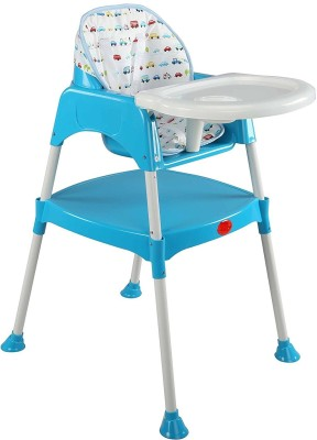 Chinmay Kids 3 in 1 Convertible Baby High Chair with Cushion(Blue)
