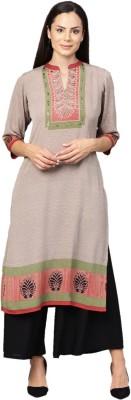 Shree Women Striped Straight Kurta(Multicolor)