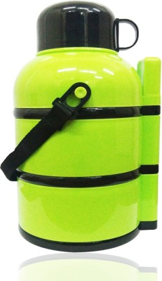 BUY SURETY LIFE STYLE CREATOR STYLISH EASY TO CARRY,DOUBLE INSULATED WITH HOT AND COLD WITH ,LEAK PROOF ,AIRTIGHT,DRINK CONTAINER ,SPOON CONTAINER WITH SPOON COVER INCLUDED 1 SPOON , 3 LAYER round LUNCH BOX FOR SCHOOL/OFFICE/COLLAGE/TRAVEL/ CAPACITY-900 ML 3 Containers Lunch Box(900 ml)