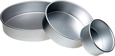 Rinkle Trendz Set of 3 - for baking 500, 750 and 1 Kg Cake - Cup Cake/Bread Mould(Pack of 3) at flipkart